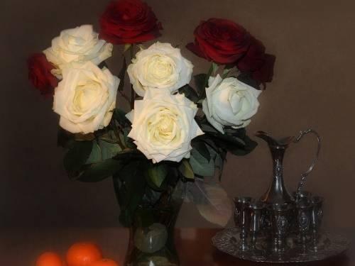 В какую воду ставить розы