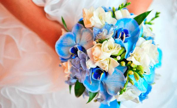 Свадебный букет орхидеи