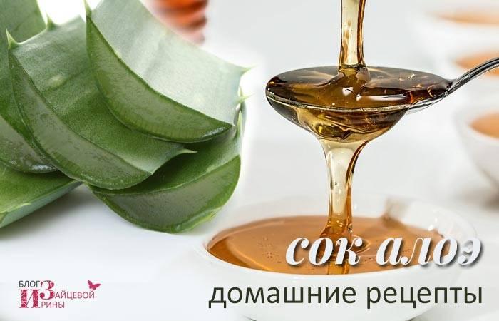 От чего помогает сок алоэ